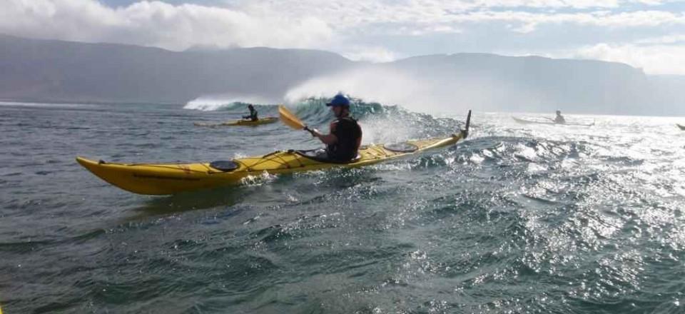 Surfing at Montaña Amarilla, La Graciosa